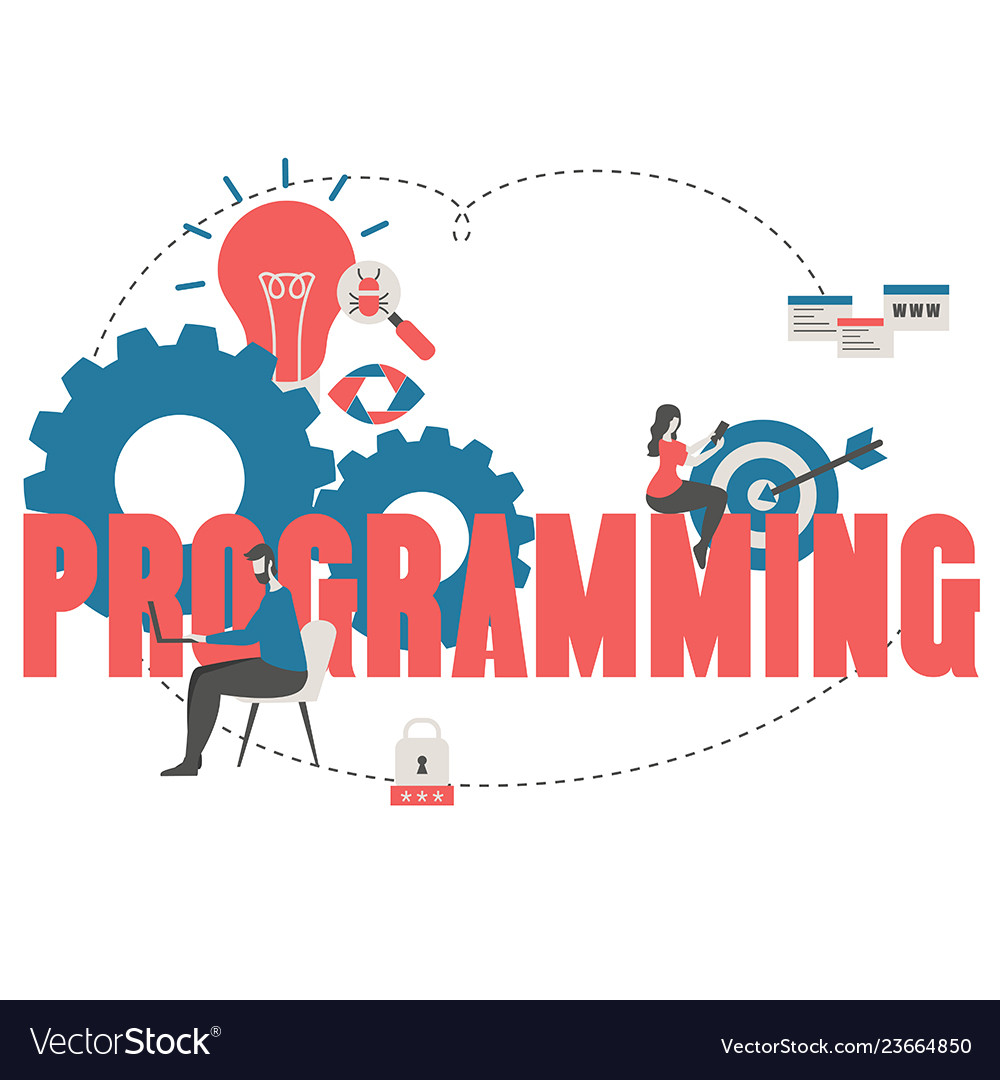 Coding and programming concept coding and