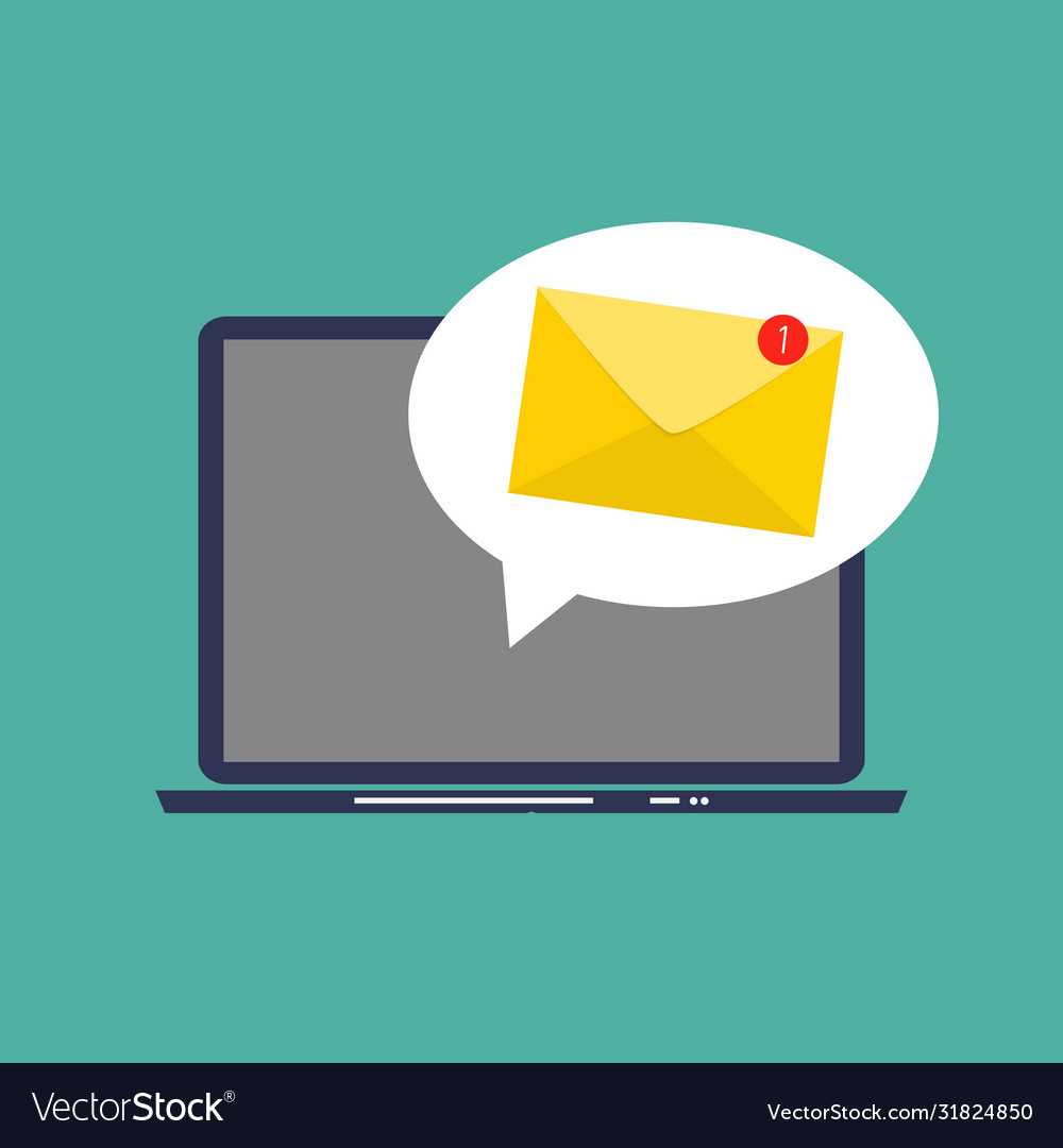 E-mail marketing concept flat background with