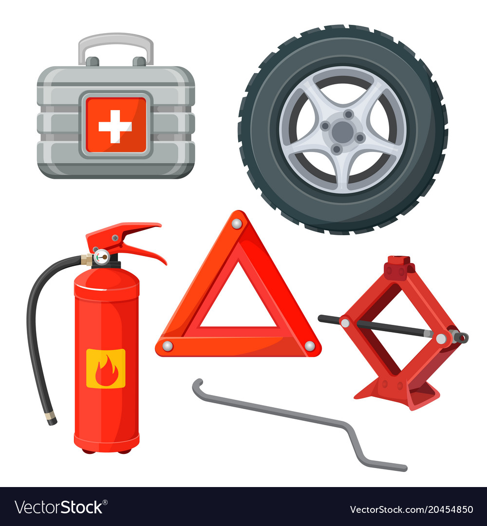 Automotive Fire Extinguisher >> Emergency First Aid Kit In Car Fire Extinguisher
