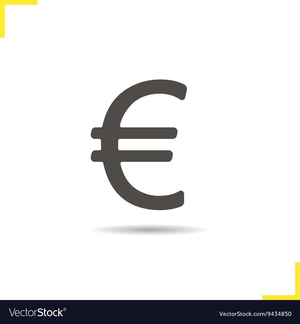 Euro emblem icon vector image