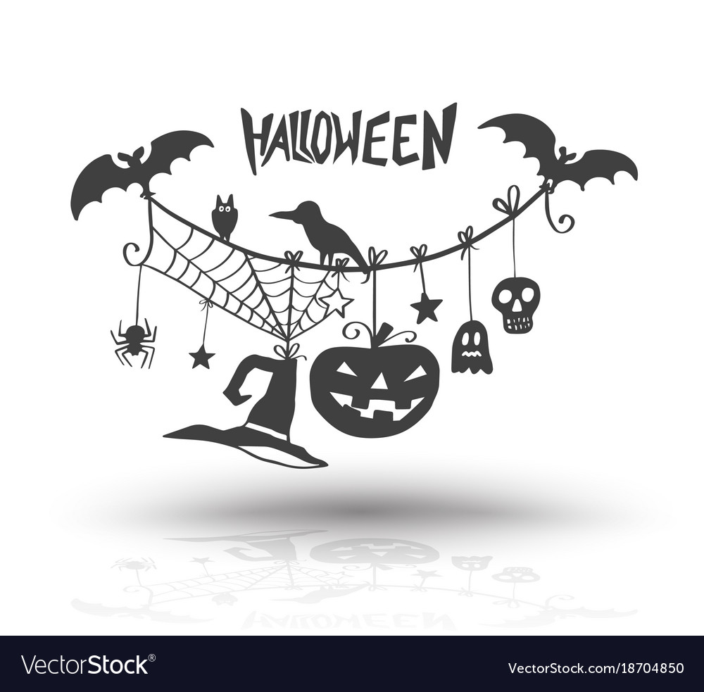 Halloween objects for halloween