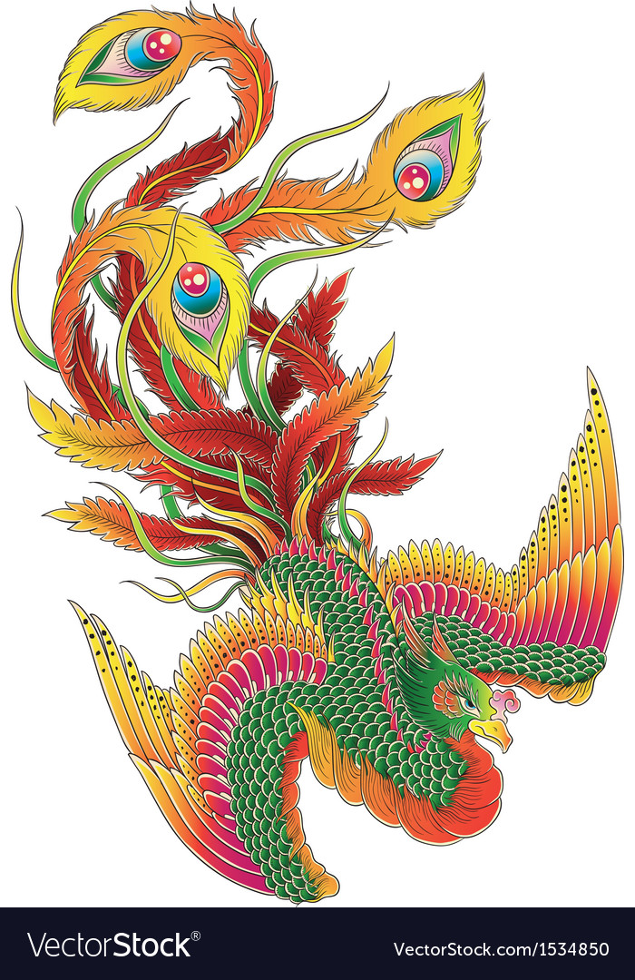 Japanese Style Phoenix Royalty Free Vector Image