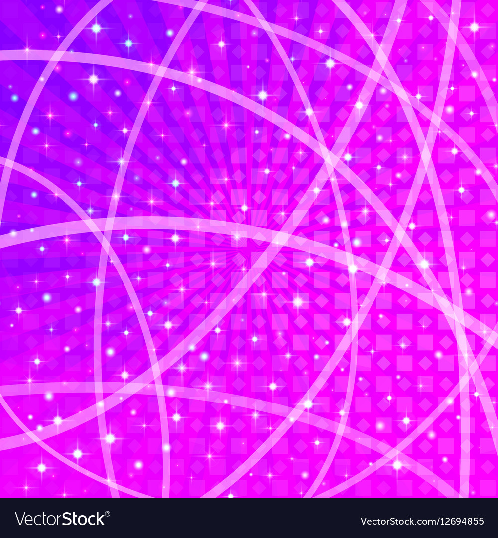 Background with Stars and Rays