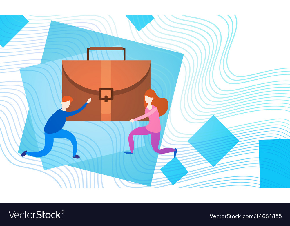 Business people group team hold suitcase