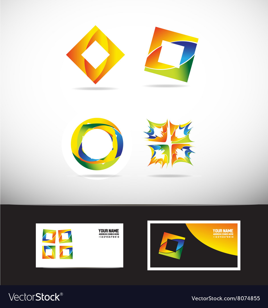Corporate business colors logo icon