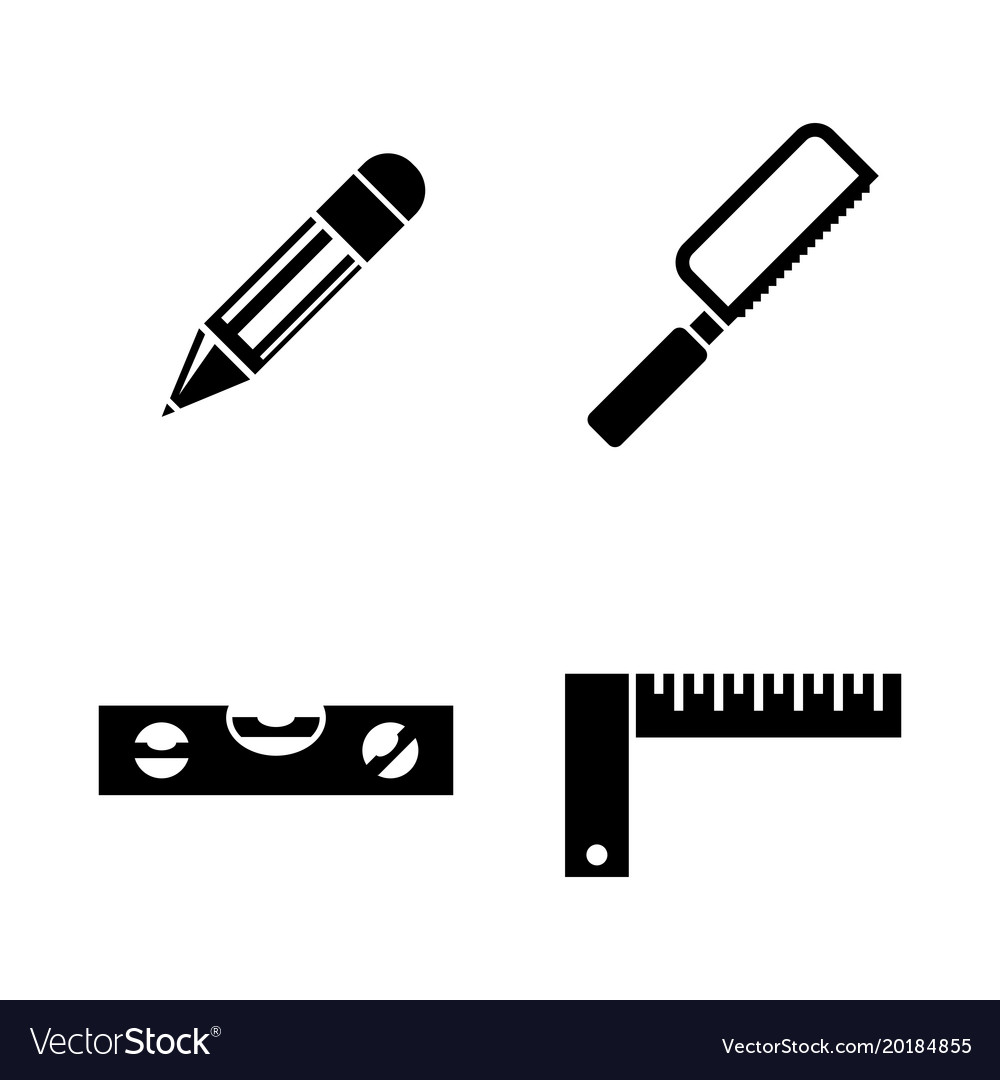 Engineering tools simple related icons