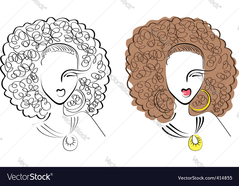 Hand drawn woman vector