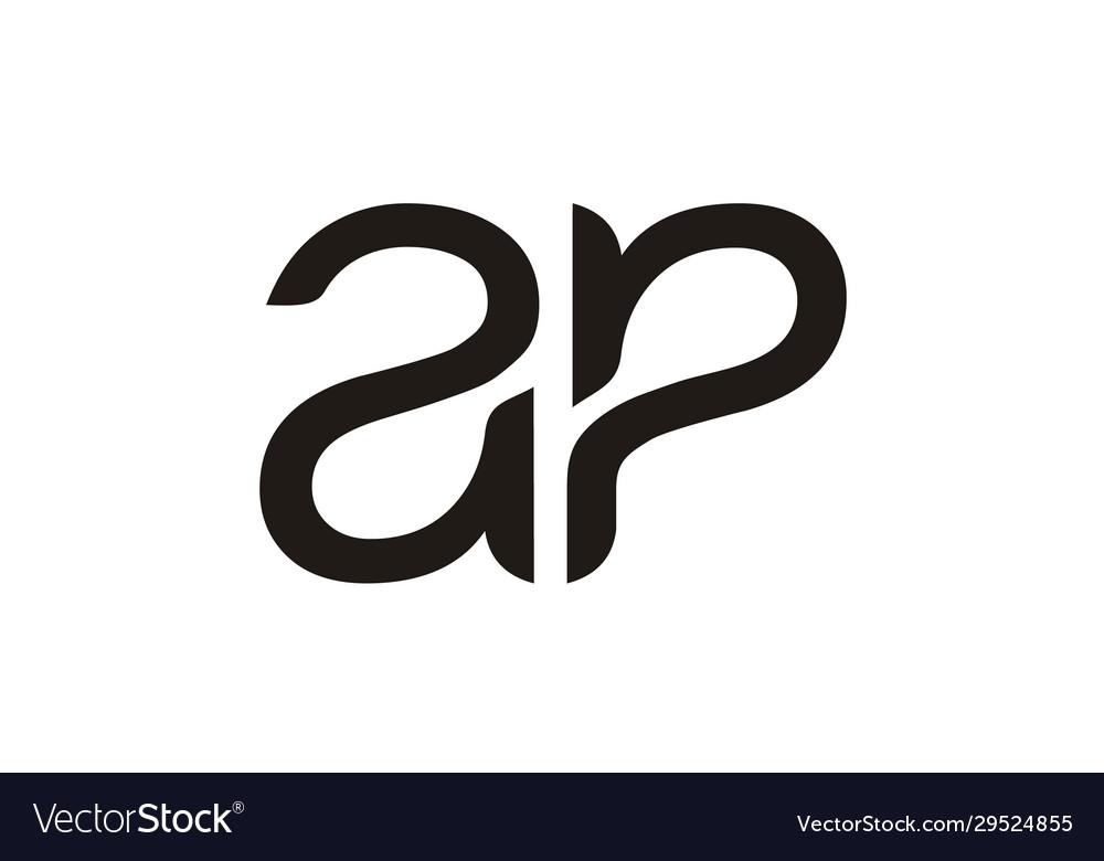 Initials monogram letter ap pa logo