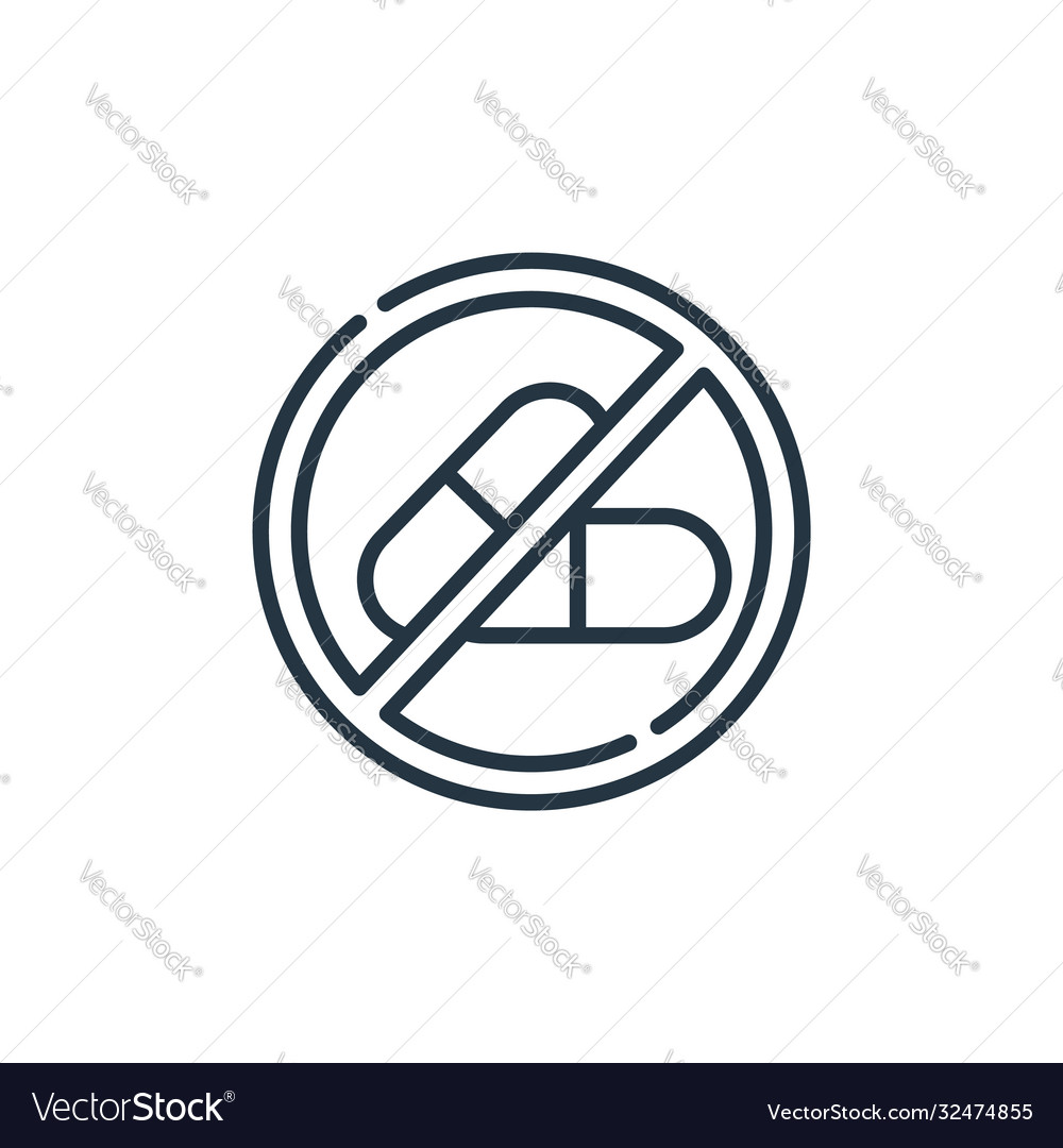 no drugs icon isolated on white background vector image no drugs icon isolated on white background vector image