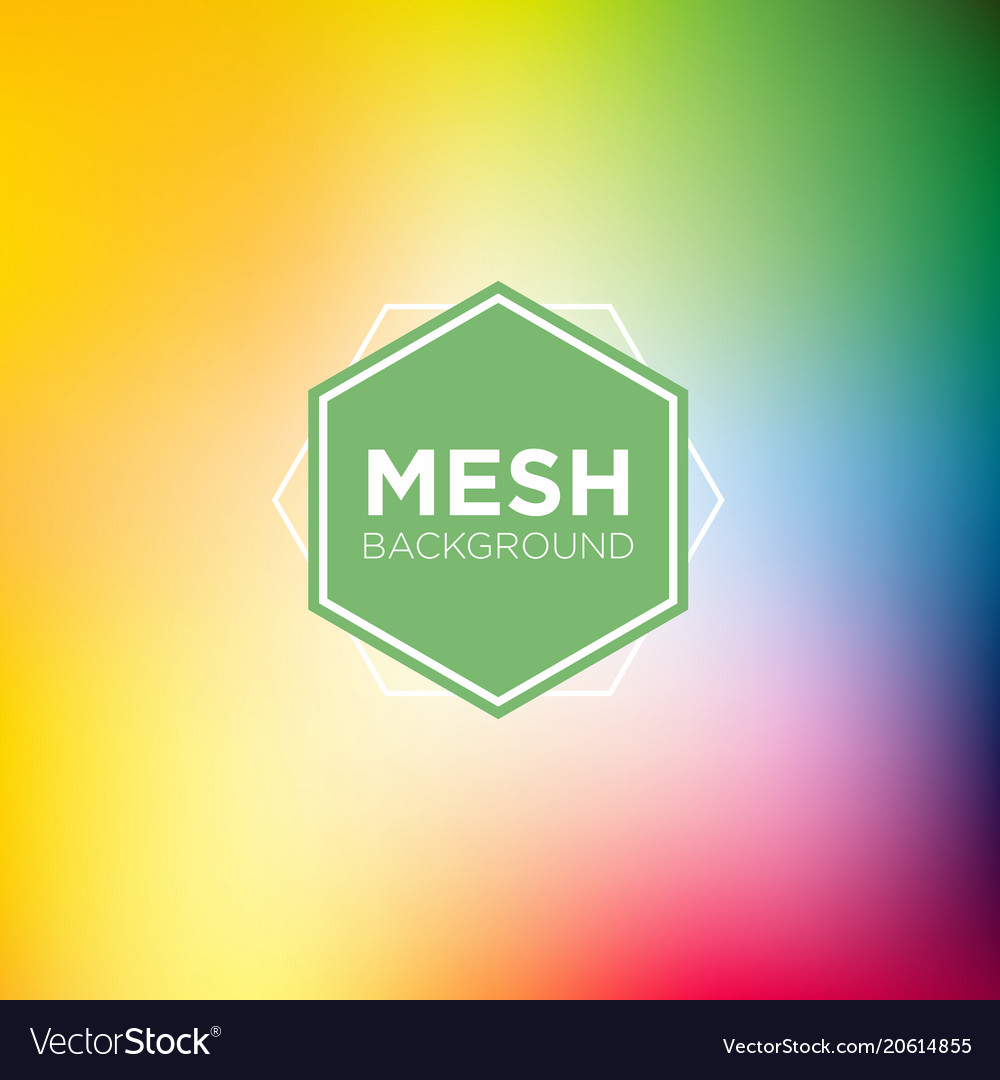 Rainbow themed mesh background