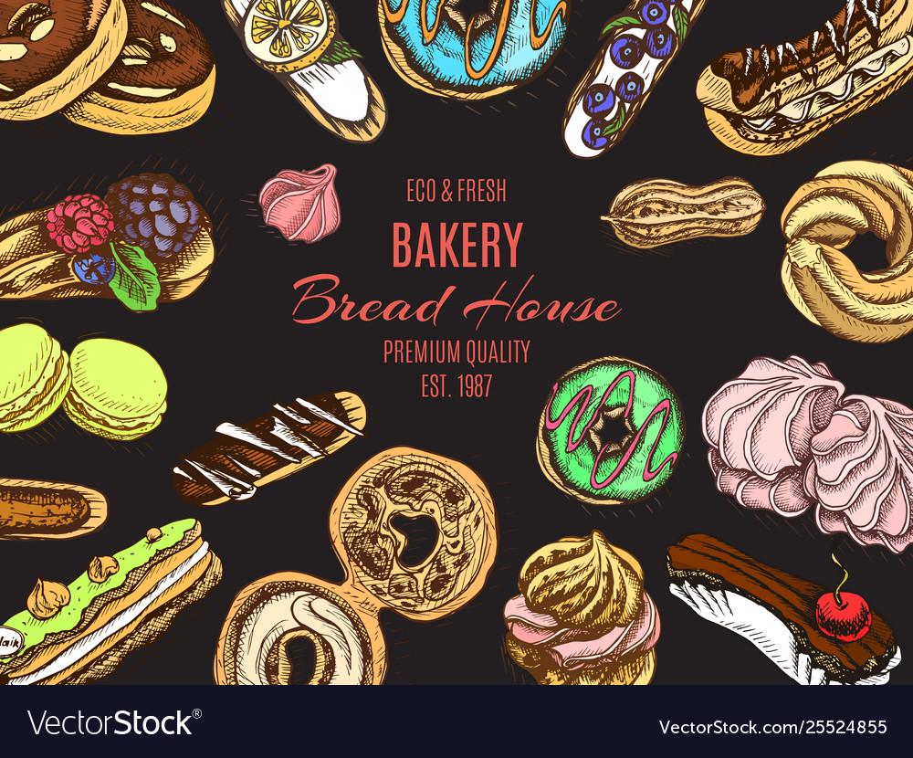 Sketch bakery vintage card