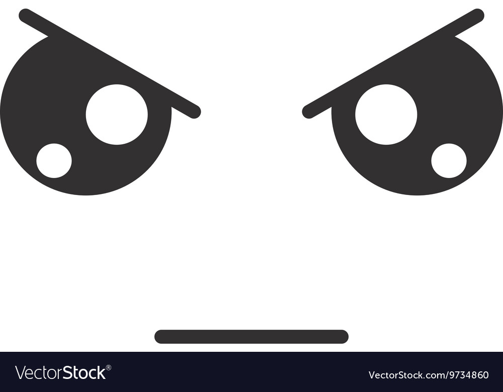 Angry Face Emoticon Isolated Icon Design Vector Image