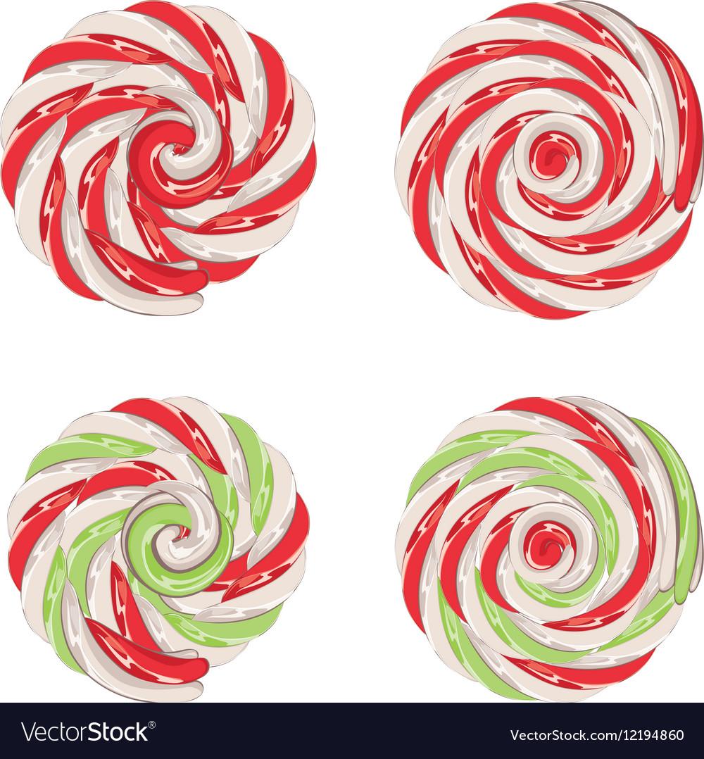 Christmas Lollipops Set Royalty Free Vector Image