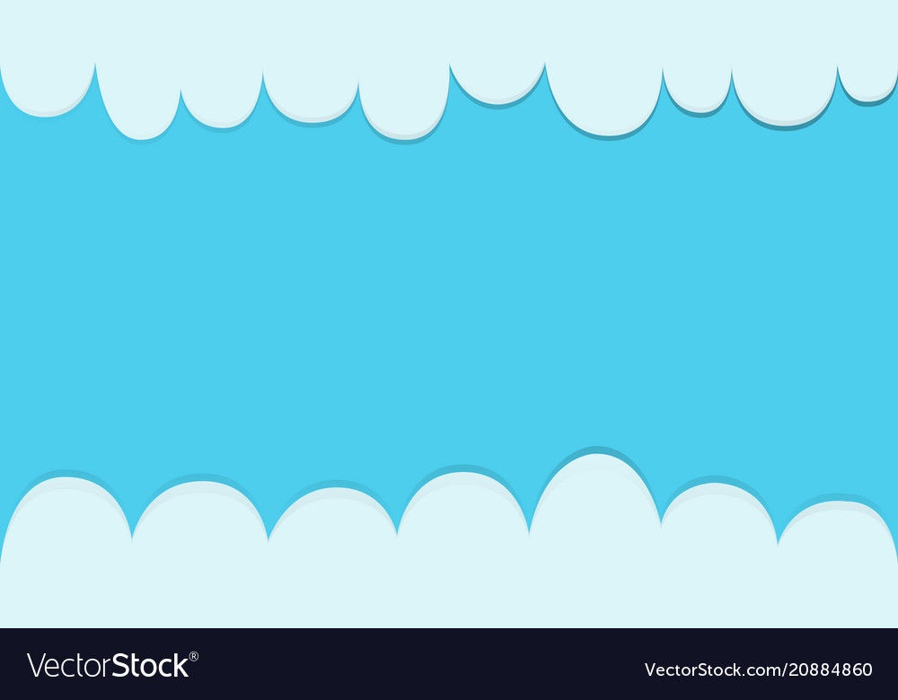 Clouds with blue sky background template modern