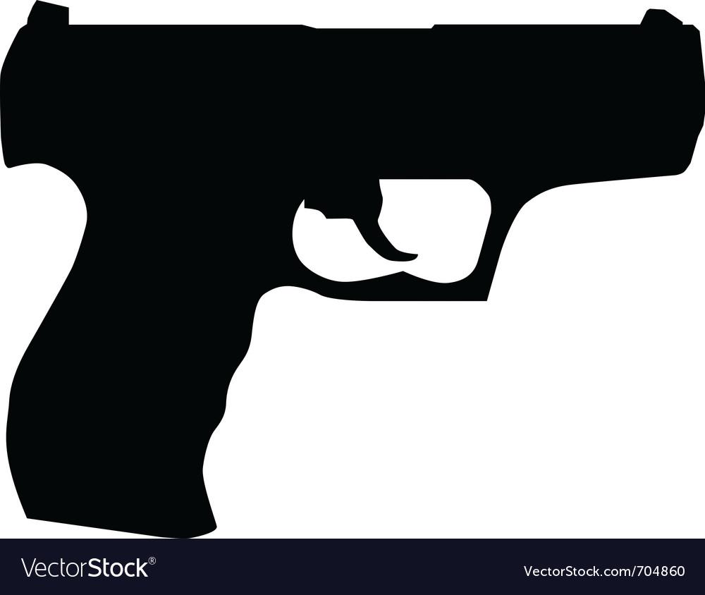 hand gun silhouette royalty free vector image vectorstock vectorstock