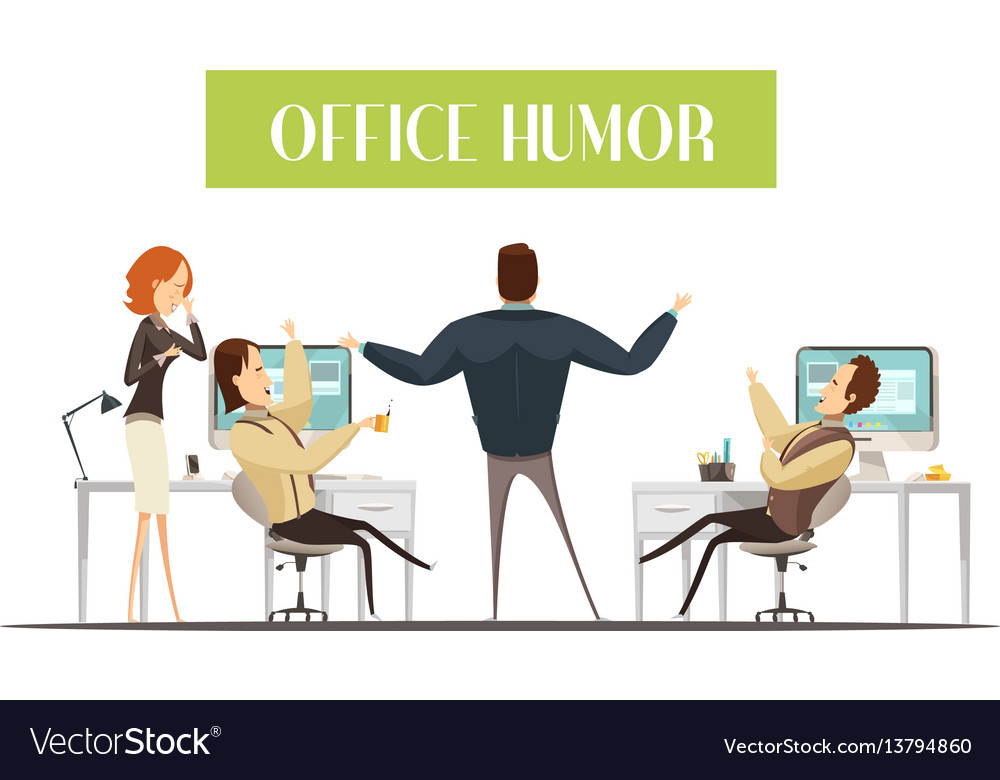 Office humor cartoon style Royalty Free Vector Image