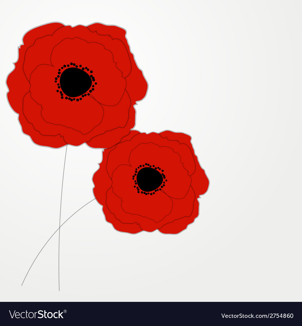 Red poppies flower background royalty free vector image red poppies flower background vector image mightylinksfo