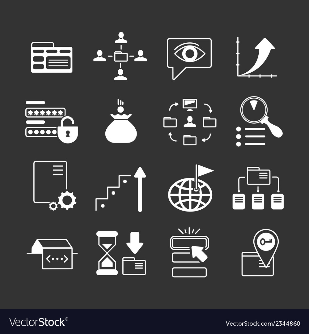 Set icons of SEO web and internet