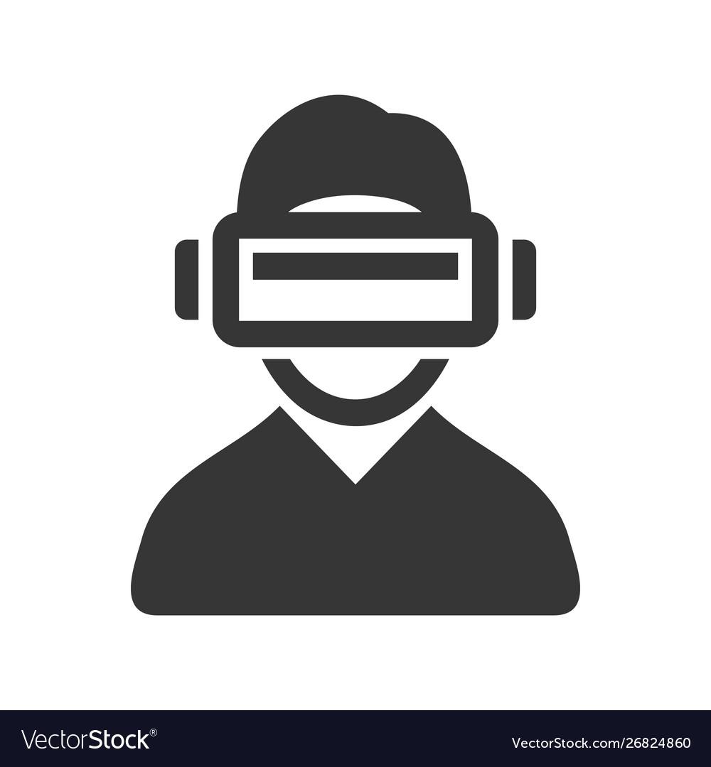 Virtual reality headset icon on white background