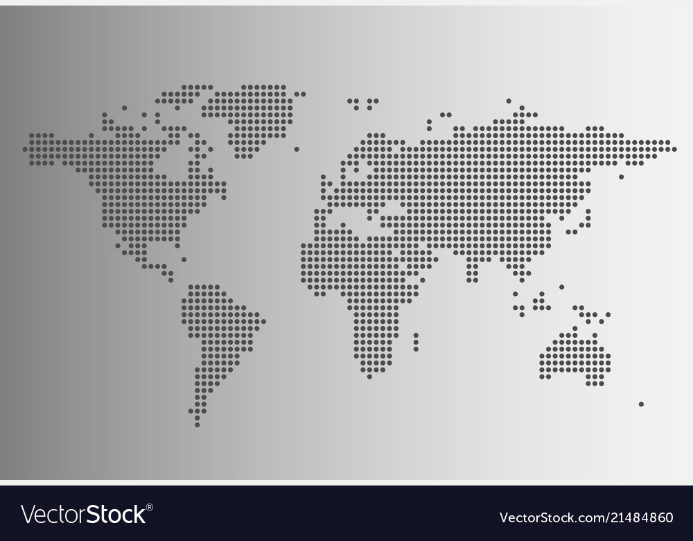 World map in dotted style