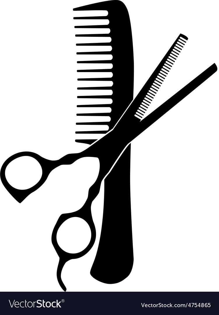 comb and scissors royalty free vector image vectorstock rh vectorstock com scissors vector free download scissors vector free