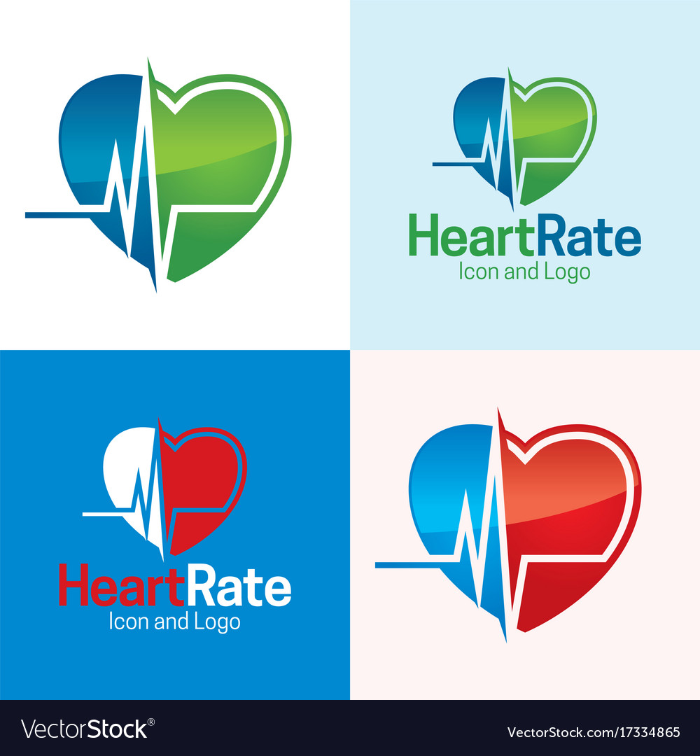 Heart rate vector image