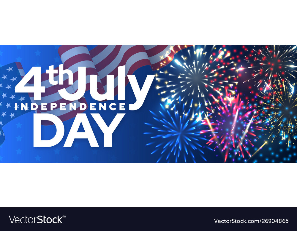 Independence day isolated banner template