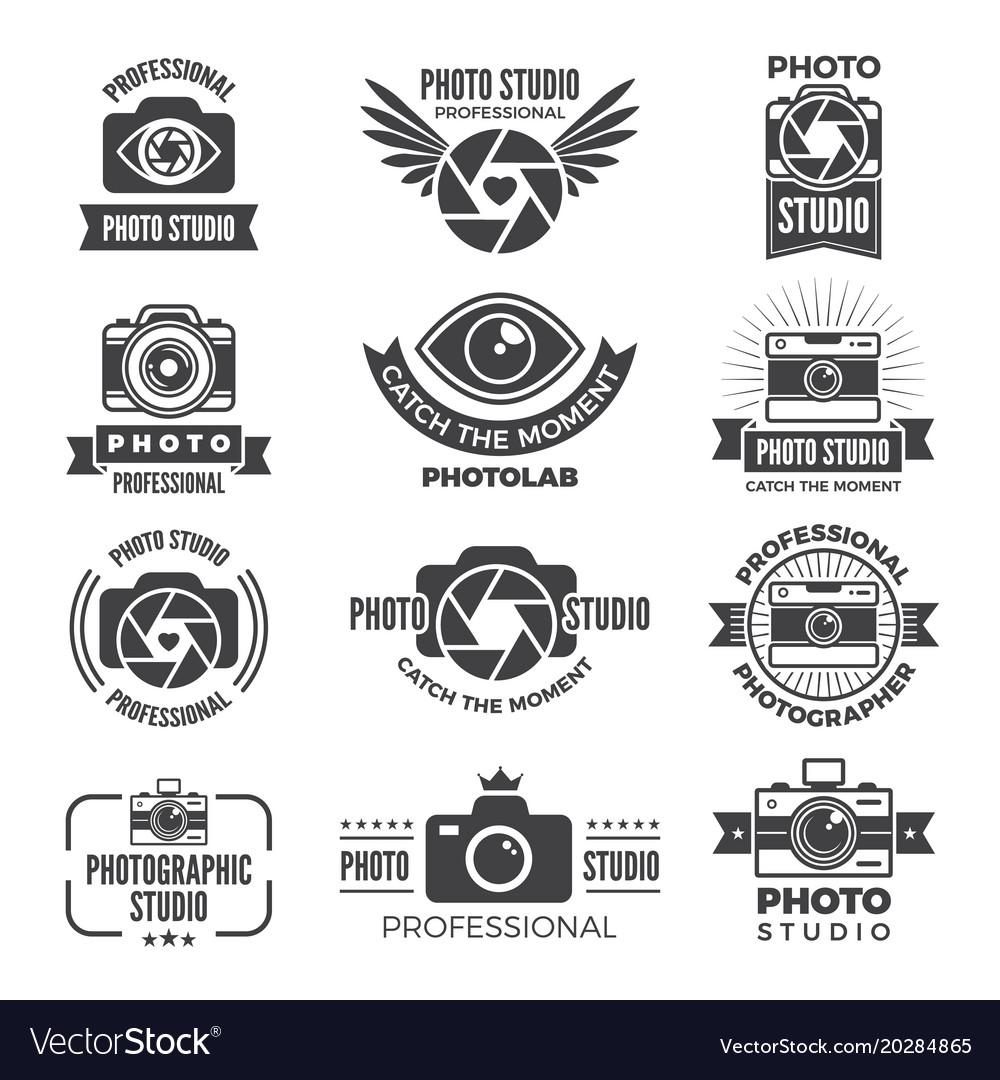 Logotypes And Symbols Of Photo Studios Royalty Free Vector