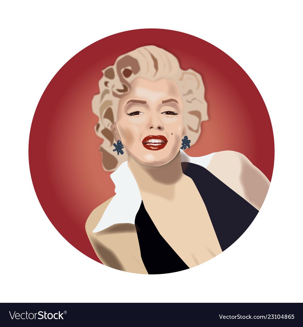 marilyn monroe royalty free vector image vectorstock vectorstock