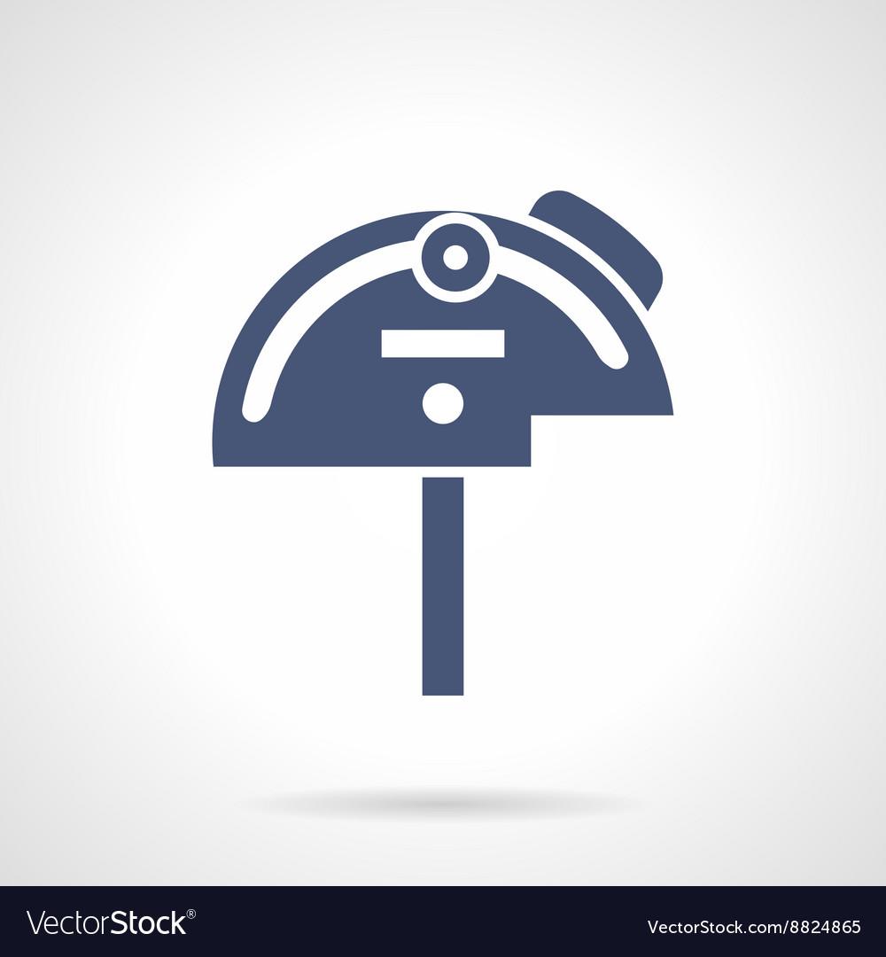 Mechanical protractor glyph style icon