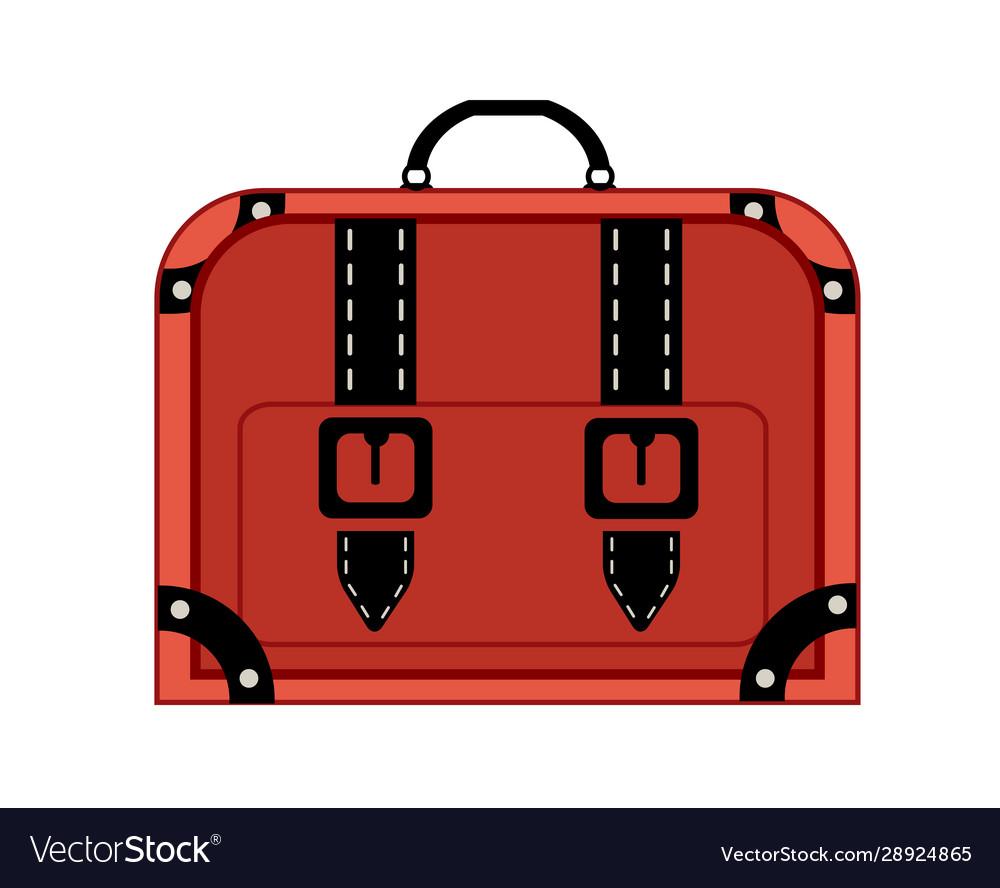 Old vintage luggage bag suitcase travel
