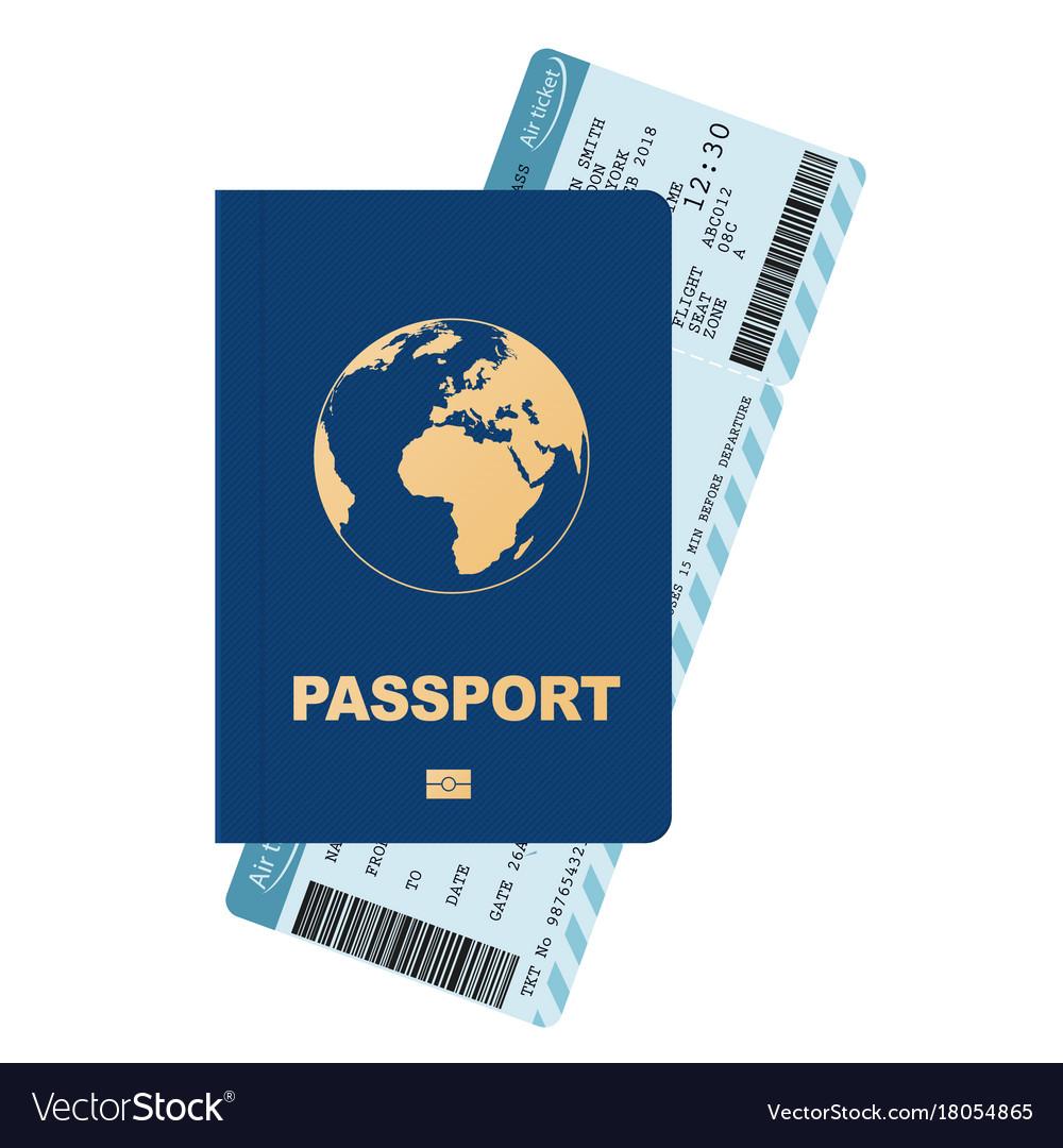 Passport and boarding pass airline passenger