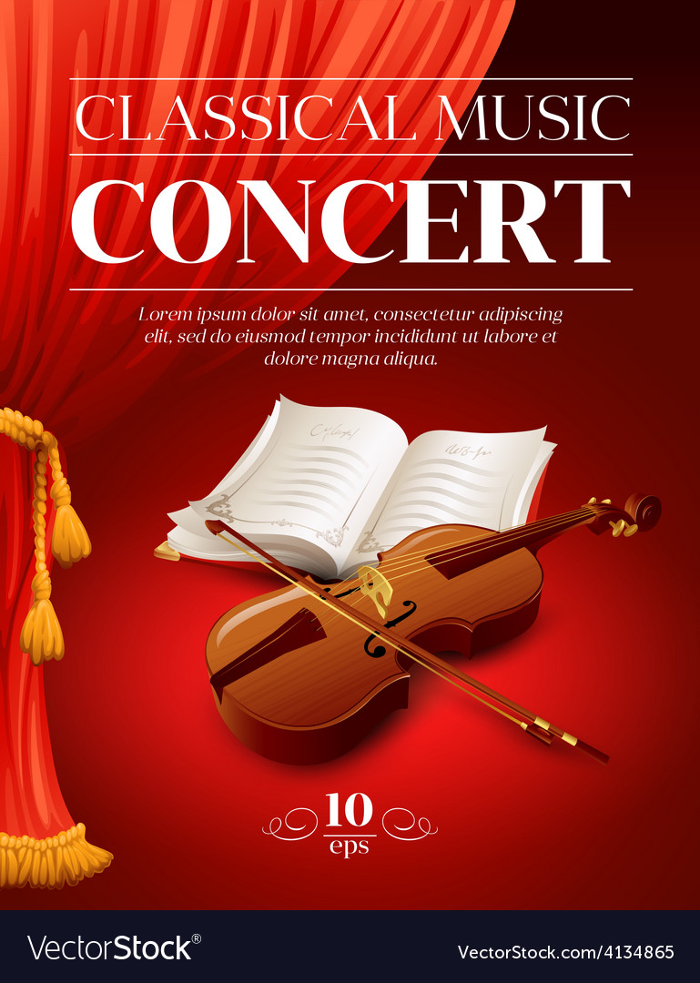 Poster of a classical music concert