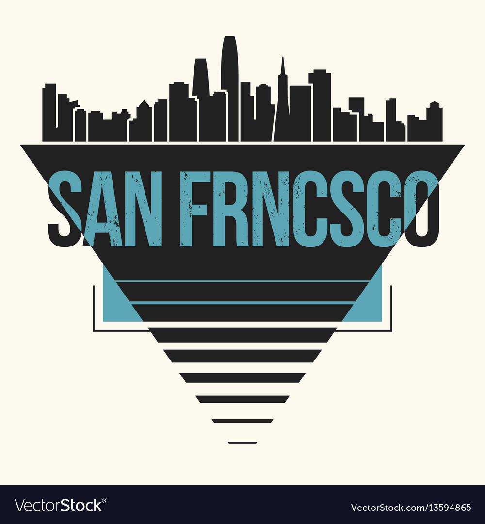 San francisco graphic t-shirt design tee print