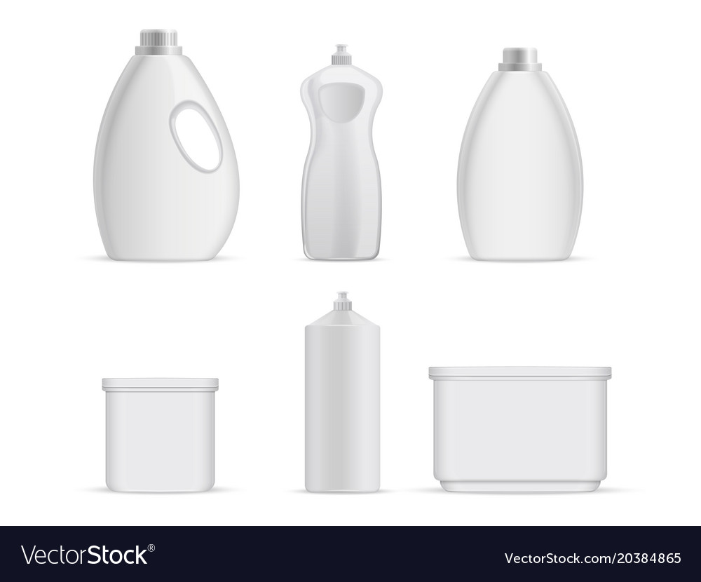 Sanitary plastic empty bottles with chemical