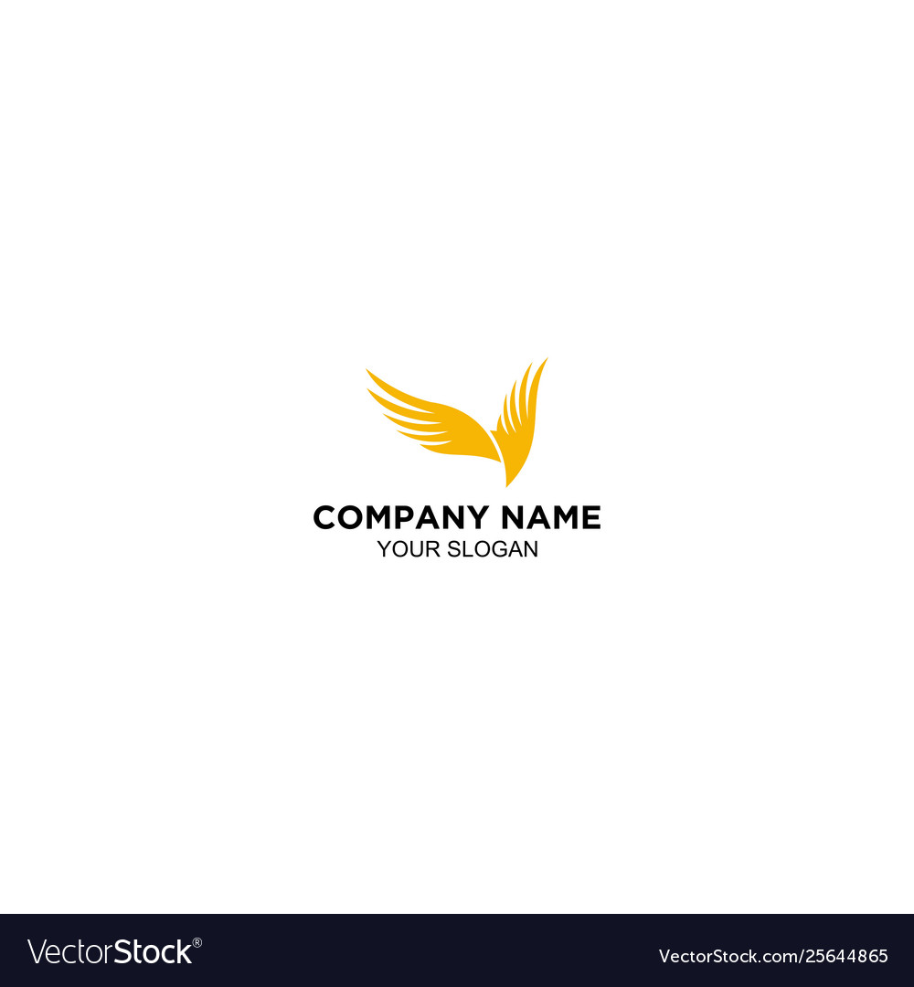 Wing logos in flat design