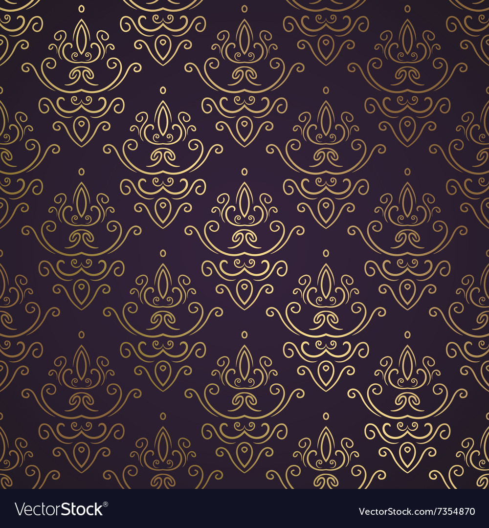Dark Vintage Seamless Wallpaper Royalty Free Vector Image