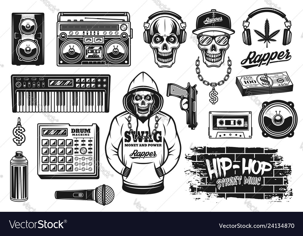 Rap and hip hop music attributes objects