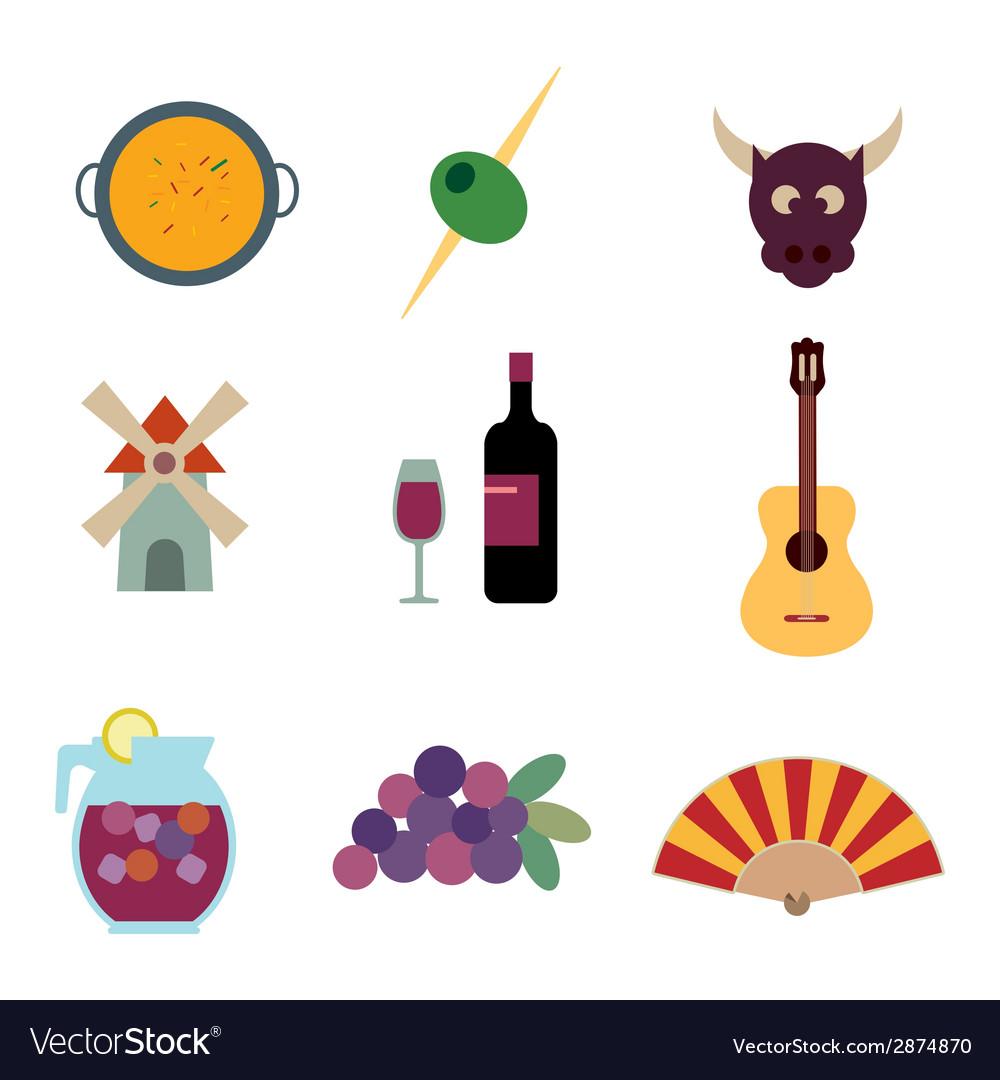 Symbols Of Spain Royalty Free Vector Image Vectorstock