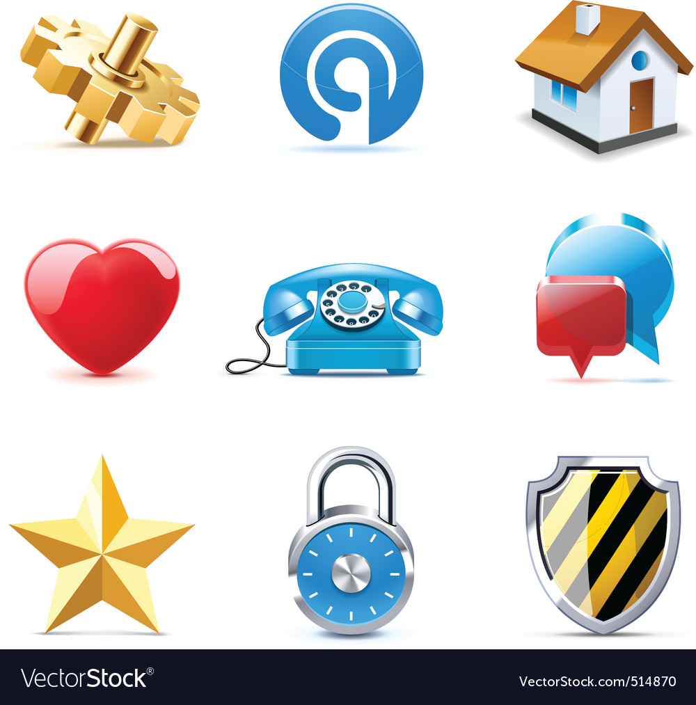 Web icons | bella series vector image