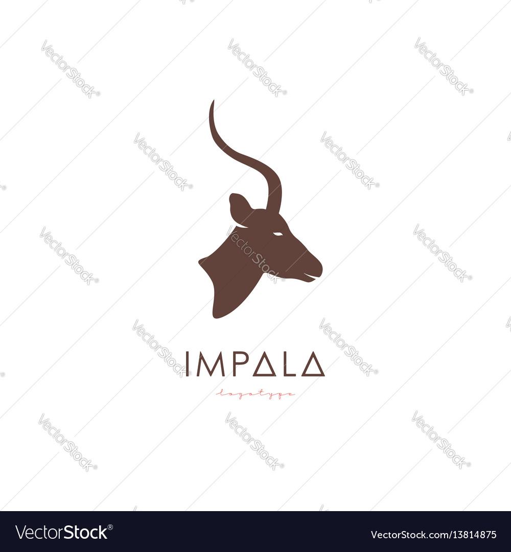 Artistic stylized impala logotype vector image