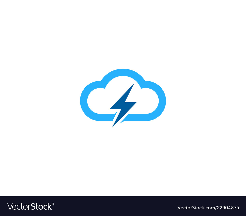 Cloud power logo icon design