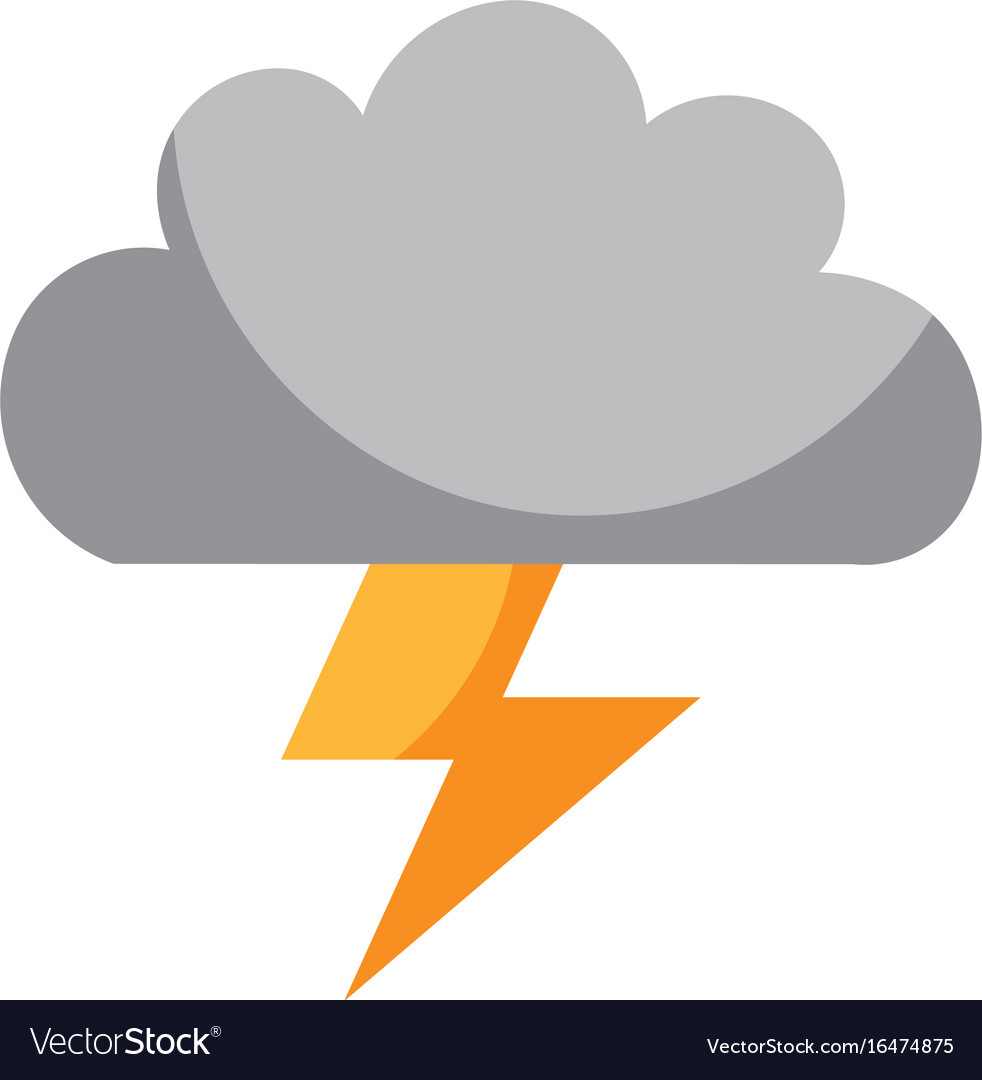 cloud with thunder ray isolated icon royalty free vector vectorstock