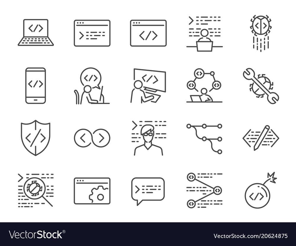 Developer icon set