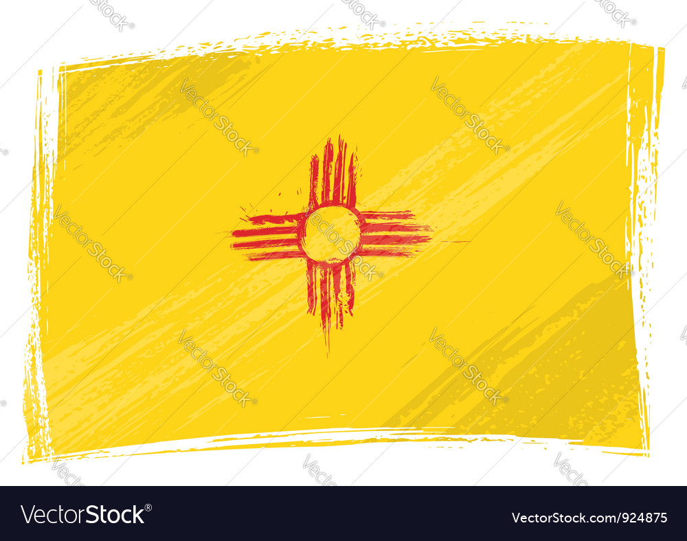 Grunge New Mexico flag vector image