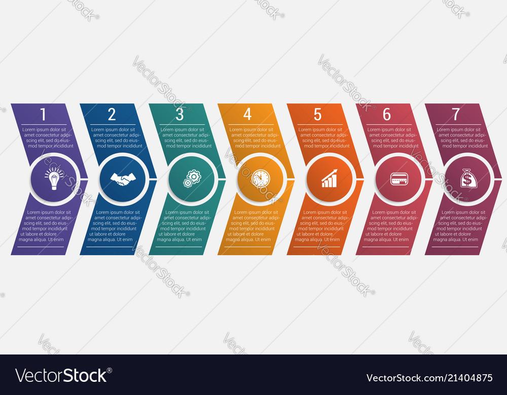 Timeline arrows seven positions