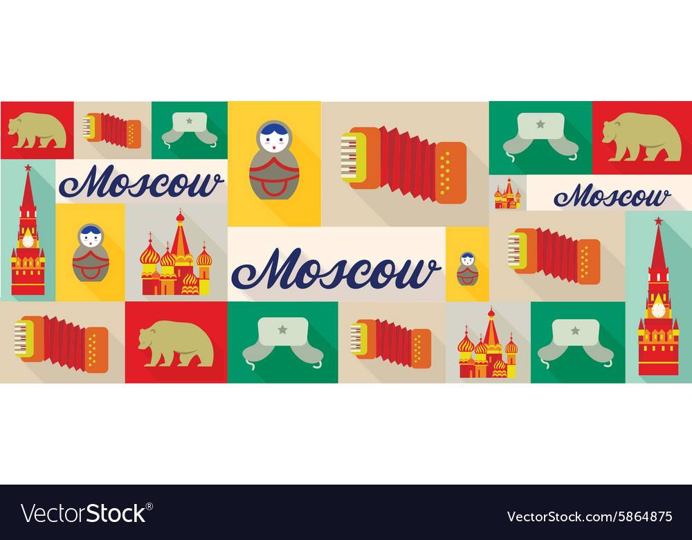 Travel and tourism icons Moscow