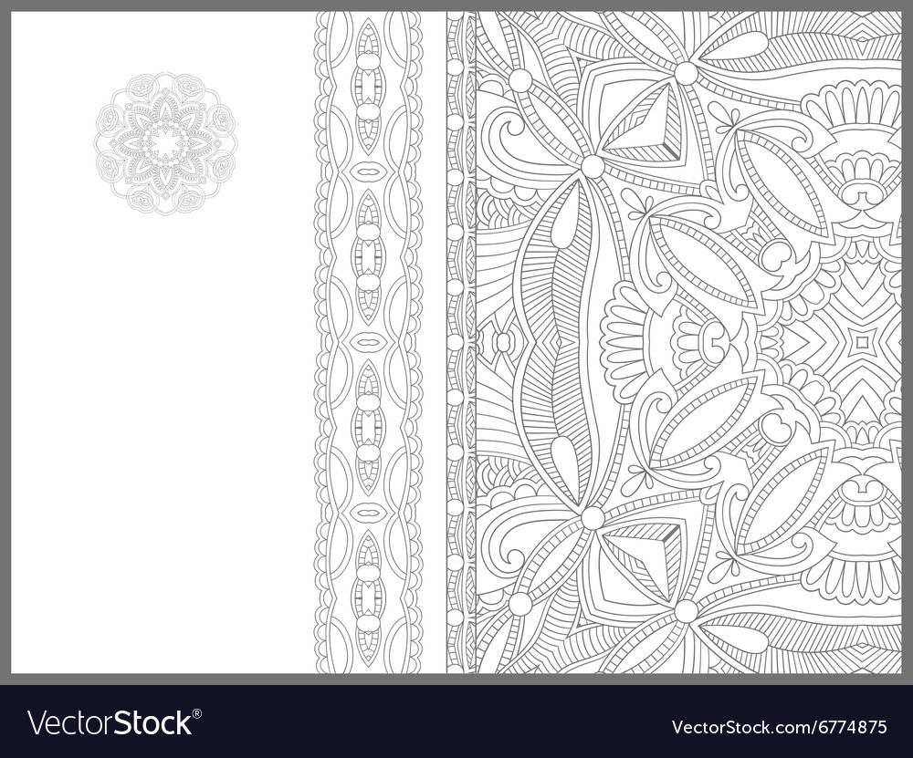 Unique coloring book page for adults - flower Vector Image