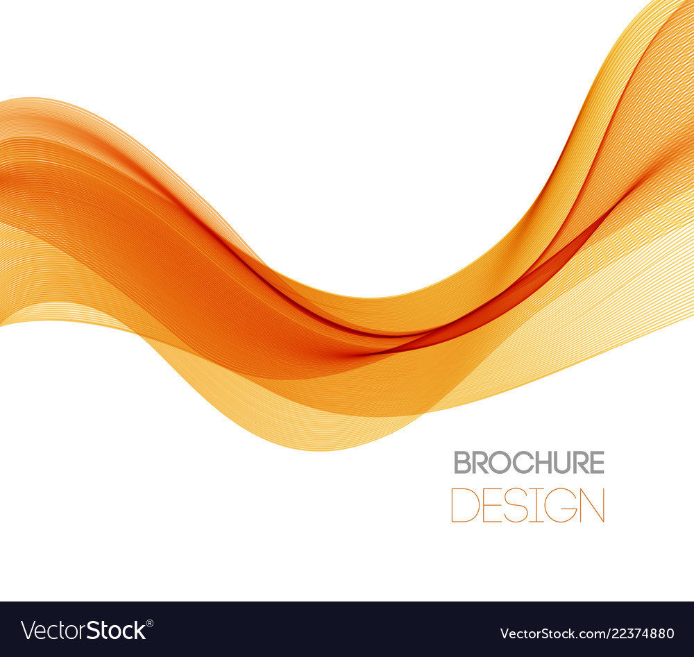 Abstract background with orange smooth