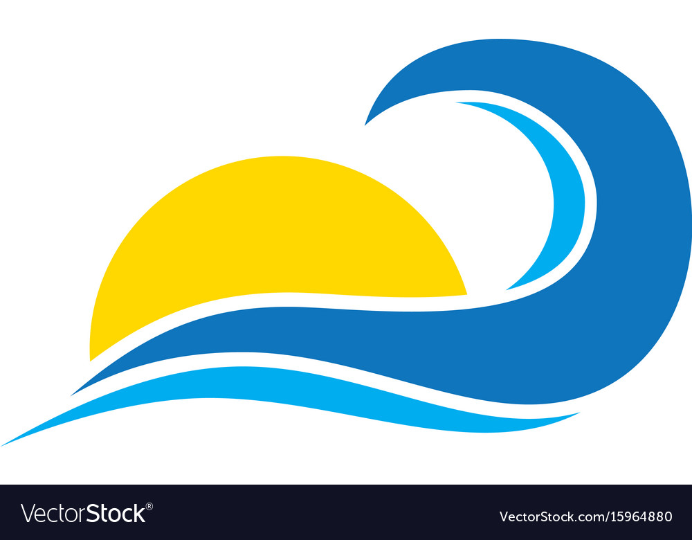 Abstract wave sunset logo